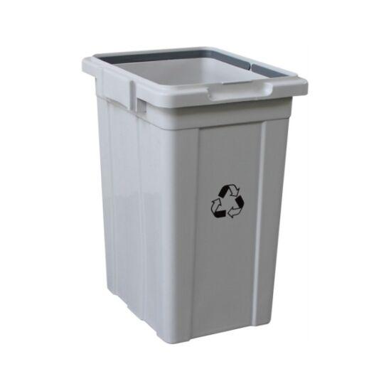 Szelektív hulladékgyűjtő fedél nélkül, 33 l