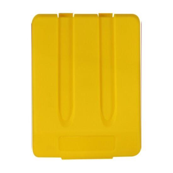Fedél K33 szelektív hulladékgyűjtőhöz - sárga