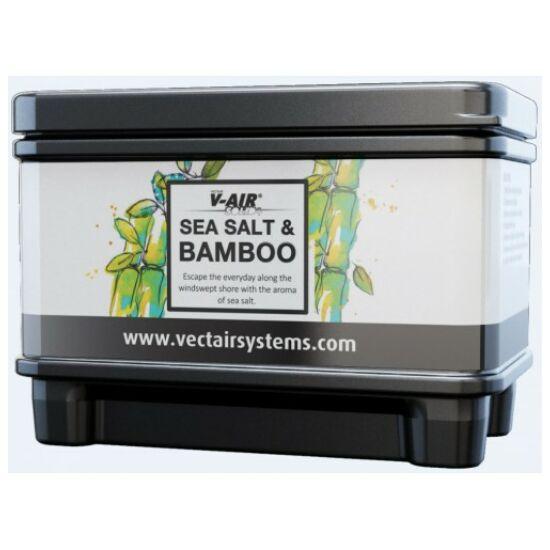 V-AIR Solid Plus Sea Salt & Bamboo - tengeri só és bambusz illatú, illatosított légfrissítő patron, adagolóhoz