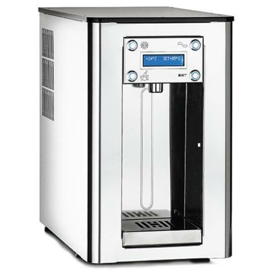 TIVOLI 270 PLEX hűtött vizes ivókút 17-59 liter / óra kapacitású Silver Turbo Clean hűtőrendszerrel, opcionális CO2 előkészítéssel, rozsdamentes acél burkolattal