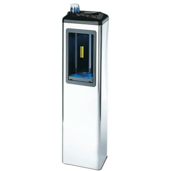 FUTURA 81 luxe hűtött vizes ivókút, hideg és meleg víz adagolására egyaránt alkalmas, 9-33 l/h SILVER TURBO CLEAN hűtési rendszerrel, álló, rozsdamentes acél, 230V hálózati, BWT szűrőrendszerrel