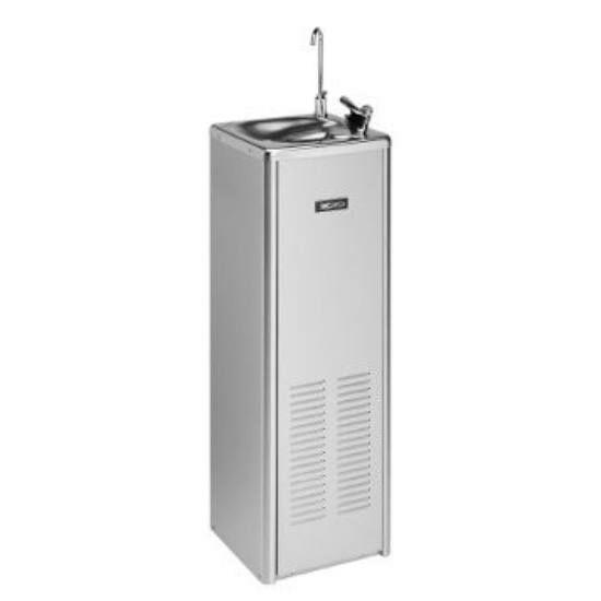 Hűtött vizes ivókút, nyomógombos vezérlésű, 74 l/h, horganyzott acél