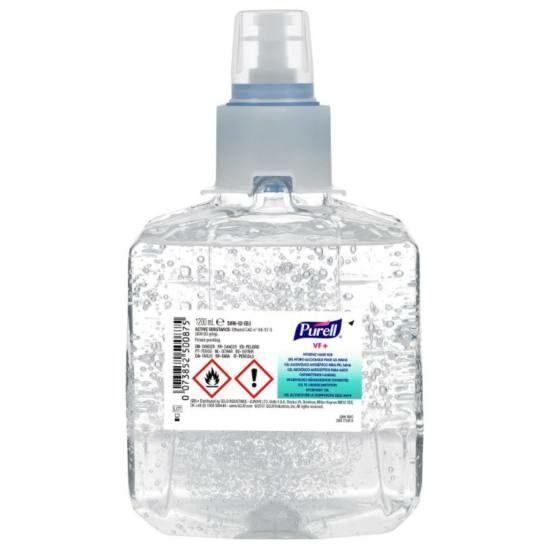 PURELL VF+ erős széles hatásspektrumú, erős virucid hatású kézfertőtlenítő gél utántöltő patron, LTX rendszer, LTX-12, 1200 ml