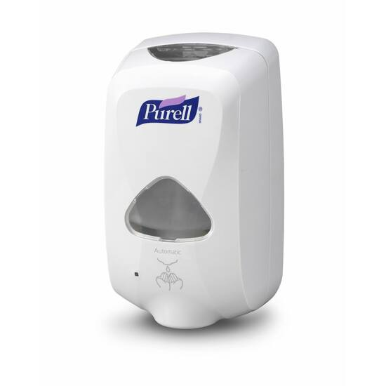 PURELL automata kézfertőtlenítő gél adagoló, TFX rendszer, 1200 ml, érintésmentes szenzoros működtetéssel, elemes, fehér színű