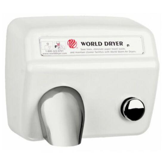 DA548-974 WORLD DRYER Model A nyomógombos, időzített kézszárító, acél, fehér, 2300 W, 20 mp, 73,8 dB