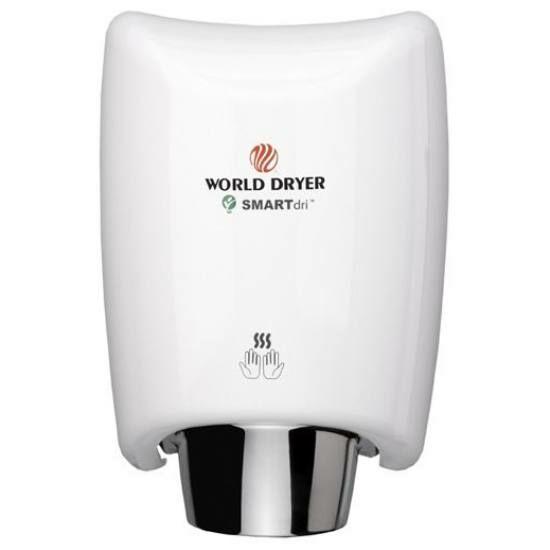 K48-974P WORLD DRYER SMARTdri Plus kézszárító, alumínium, fehér, 400-1200W, 10mp