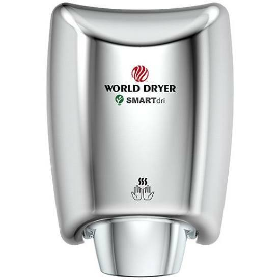 K48-970P WORLD DRYER SMARTdri Plus kézszárító, alumínium, fényes, 400-1200W, 10mp