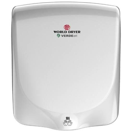 Q-974A WORLD DRYER VERDEdri villámgyors kézszárító, alumínium, fehér, 950 W, 12 mp, 85 dB