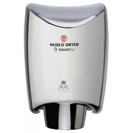 K48-971 WORLD DRYER SMARTdri okos kézszárító, alumínium, selyem, 400-1200 W, 10 mp, 85 dB