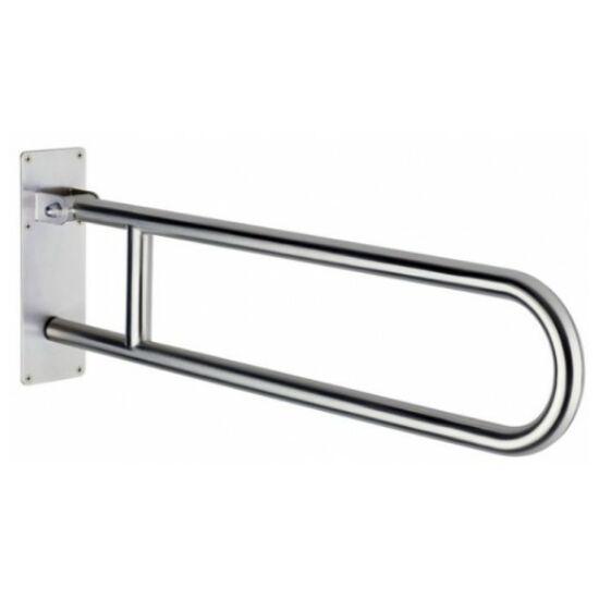 Delabie felhajtható mozgássérült kapaszkodó lecsapódásmentes 850 mm - fali, r.m. acél, selyem, 32 mm csőátmérő