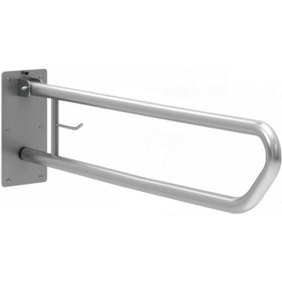 Felhajtható mozgássérült kapaszkodó wc-papír tartóval  800 mm - fali, r.m. acél, selyem, 32 mm csőátmérő